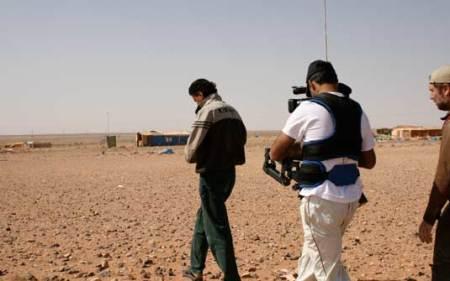 Refugiado palestino é filmado por equipe brasileira de cineastas (Foto: Divulgação)